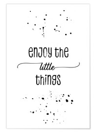 Premium poster  Enjoy the little things - Melanie Viola