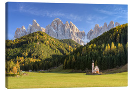 Canvas  Church in Val di Funes in South Tyrol - Michael Valjak