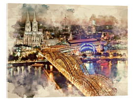 Acrylic print  Cologne Skyline Cologne Cathedral - Peter Roder
