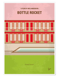 Premium poster No855 My Bottle Rocket minimal movie poster