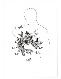 Premium poster Butterflies in the stomach