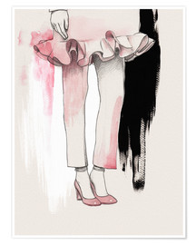 Premium poster Fashion illustration Pink shoes
