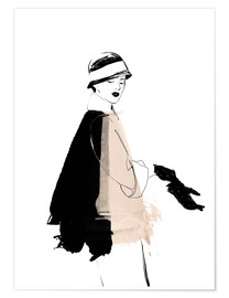 Poster 20s Fashion Illustration