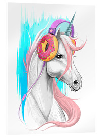 Acrylic print  Unicorn with headphones - Nikita Korenkov