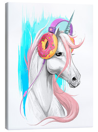 Canvas print  Unicorn with headphones - Nikita Korenkov
