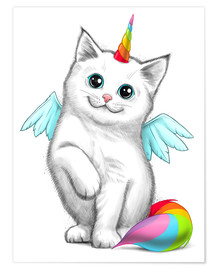 Poster  Cat unicorn - Nikita Korenkov