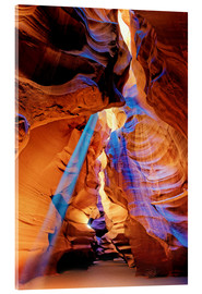 Acrylic print  Upper Antelope Canyon Beam - Michael Rucker