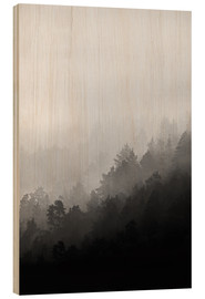 Wood print  Misty mornings - Mareike Böhmer Photography