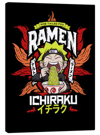 Canvas print  Naruto eating a bowl of ramen - Barrett Biggers