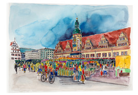 Acrylic print  Leipzig Weekly market in front of the Old Town Hall - Hartmut Buse