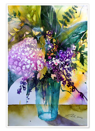 Premium poster Bouquet with hydrangea