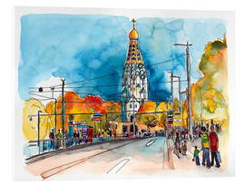 Acrylic print  Leipzig Russian Memorial Church - Hartmut Buse