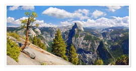 Premium poster  Glacier Point Yosemite Valley California USA - Michael Rucker