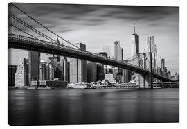 Canvas print  New York City - Brooklyn Bridge and Skyline - Dennis Fischer