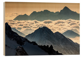 Wood print  Alps - France - Mikolaj Gospodarek