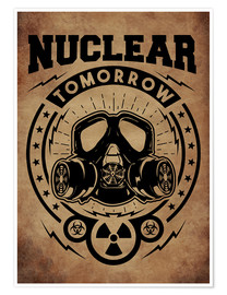 Premium poster nuclear tomorrow vintage