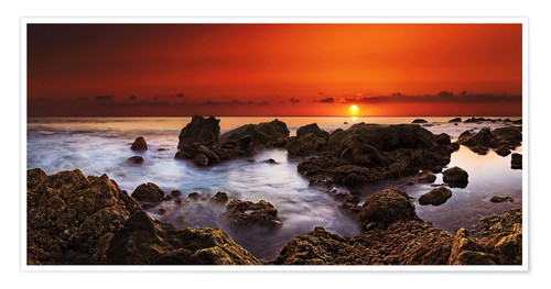 Premium poster La Gomera Sunset at Playa de Valle Gran Rey
