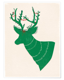 Premium poster Green Stag