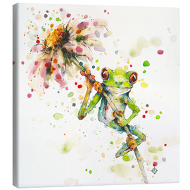 Canvas print  Hello there, bright eyes (Green tree frog) - Sillier Than Sally