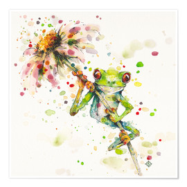 Premium poster Hello there, bright eyes (Green tree frog)