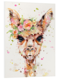 Foam board print  Little llama - Sillier Than Sally