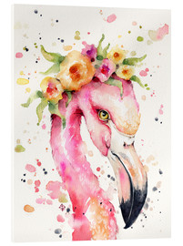 Acrylic print  Little flamingo - Sillier Than Sally