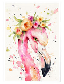 Premium poster Little flamingo