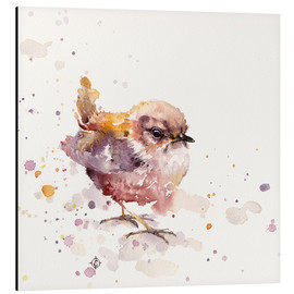 Aluminium print  Fluffy Le Wren (cute bird) - Sillier Than Sally