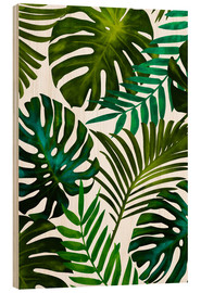 Wood print  Tropical Dream - Uma 83 Oranges