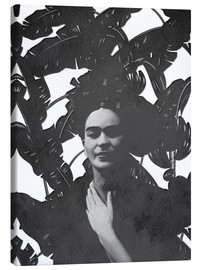 Canvas  Frida black and white - Mandy Reinmuth