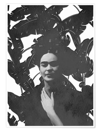 Premium poster Frida black and white
