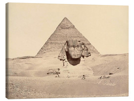 Canvas print  Chephren pyramid and sphinx - Antonio Beato