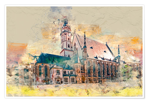 The Thomaskirche In Leipzig Posters And Prints Posterlounge Com