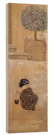 Wood print  Boy with sandcastle or child with bucket - Pierre Bonnard