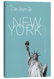 Canvas print  Popart New York Statue of Liberty I have been to Color: Light blue - campus graphics