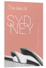 Foam board print  Popart Sydney Opera I have been to color: blooming dahlia - campus graphics