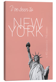 Canvas  Popart New York Statue of Liberty I have been to Color: blooming dahlia - campus graphics