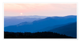 Premium poster  Sunrise at Schauinsland in the Black Forest - Dieterich Fotografie