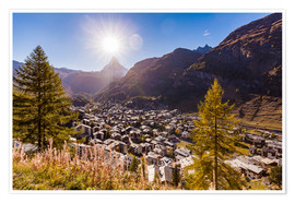 Premium poster Zermatt in the Valais