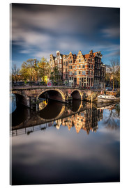 Acrylic print  Amsterdam during morning light - Dennis Fischer