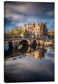 Canvas  Amsterdam during morning light - Dennis Fischer