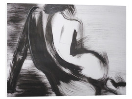 Foam board print  Curves 27 - Female Nude - Carmen Tyrrell