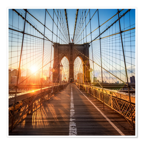 Premium poster Brooklyn Bridge in New York City