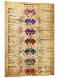 Foam board print  Meaning of the Chakras - Sharma Satyakam