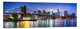 Canvas print  Brooklyn Bridge panorama in New York City, USA - Jan Christopher Becke