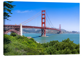 Canvas print  Golden Gate Bridge in San Francisco, California, USA - Jan Christopher Becke
