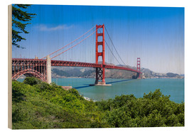 Wood  Golden Gate Bridge in San Francisco, California, USA - Jan Christopher Becke