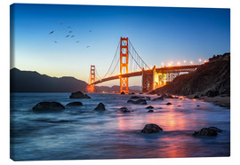 Canvas print  Golden Gate Bridge at sunset in San Francisco, USA - Jan Christopher Becke