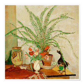 Premium poster Still life with leaf plant