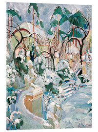 Acrylic print  Garden in the snow - Oskar Moll